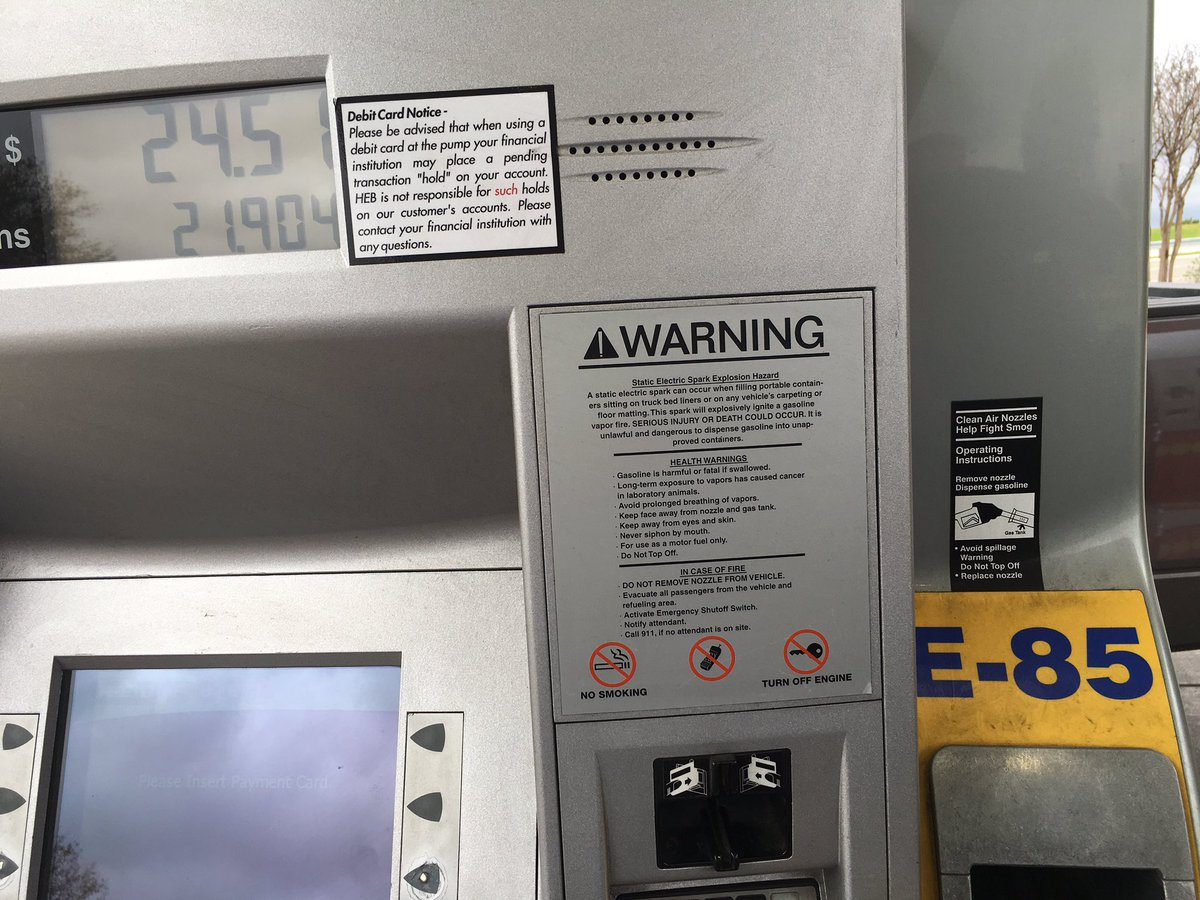 Heb Gas Prices >> Protec Fuel On Twitter Fueling At Heb Ethanol E85
