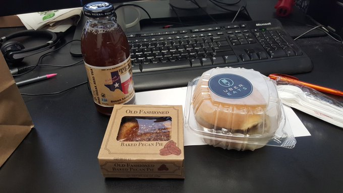 Yay BBQ delivery to the office!!  So glad I didn't have to step out on such a busy work day.  #UberEATS