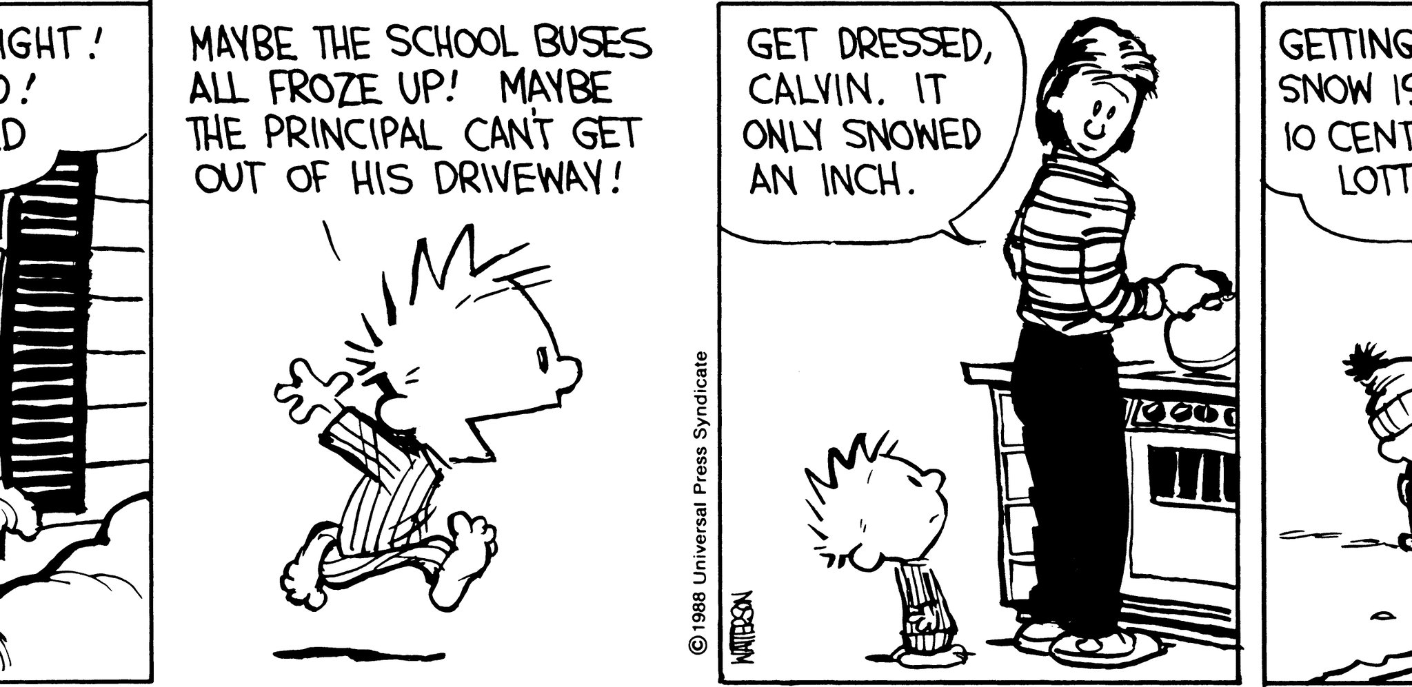 Calvin And Hobbes On Twitter Quot Quot Getting An Inch Of Snow Is