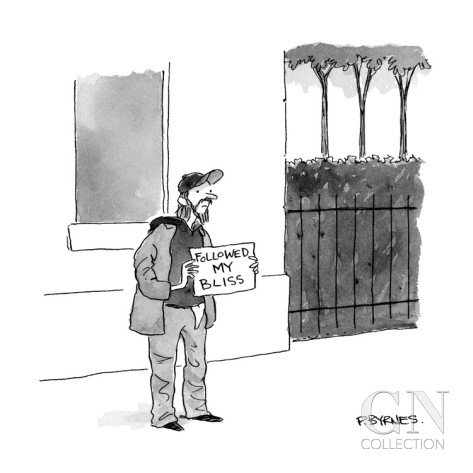 Funny and scary cartoon from @NewYorker mag send to me by @MissVera212. Not a great affirmation, but