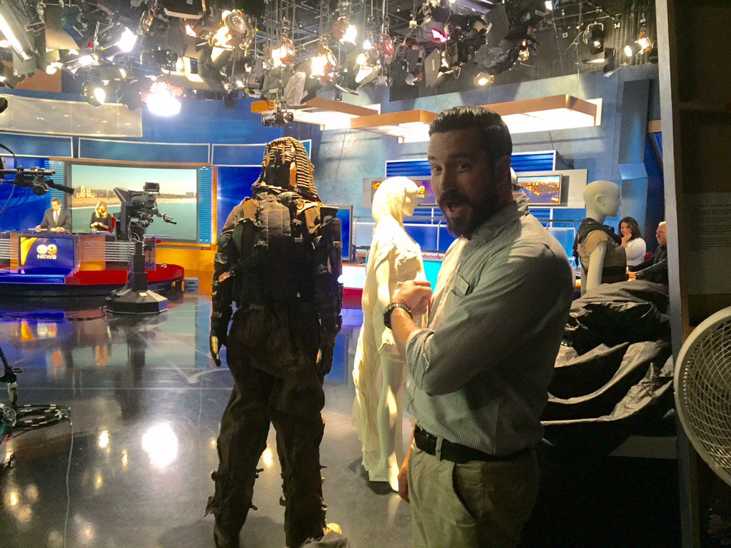 Tour guide John.. We know him! Tune in to @CBSLA in 10 minutes for more on these @MadMaxMovie costumes.