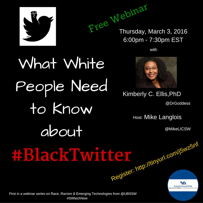 Thumbnail for DrGoddess Gives a Webinar for @UBBSW Sociologists About #BlackTwitter #SWTechnow