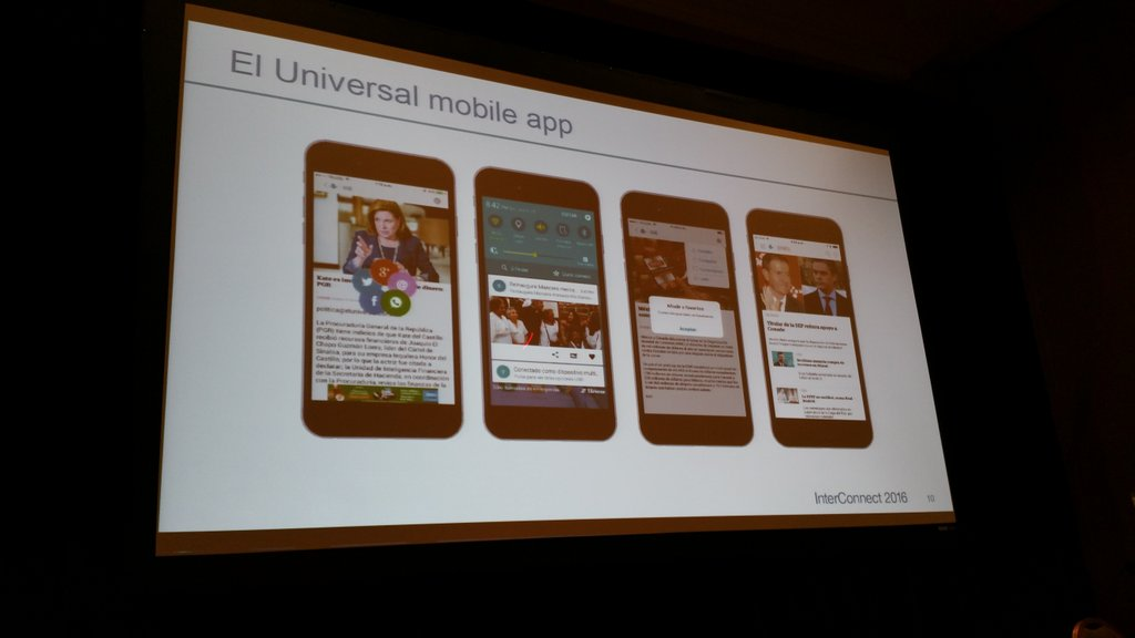 Francisco Terran, Exec. @ElUniversal Mexico share how they used @ibmmobile  for their new apps. #ibminterconnect https://t.co/ggMKO9X8MY