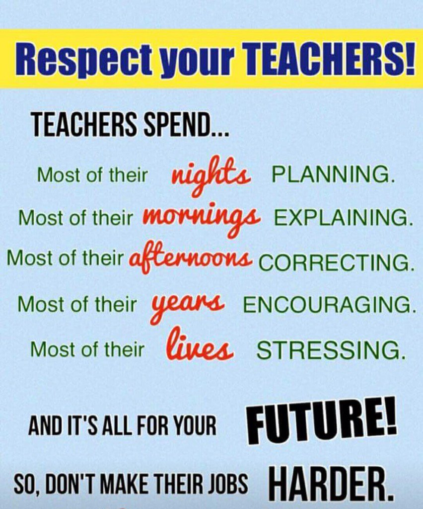 "Diego Ojeda On Twitter: ""Respect Your Teachers! Https://t"