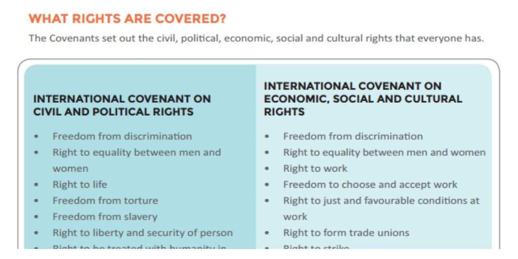 What are the #2Covenants of #HumanRights? Download @UNHumanRights factsheet for more https://t.co/fxKdEv0ycI https://t.co/dwGvnSlWQk