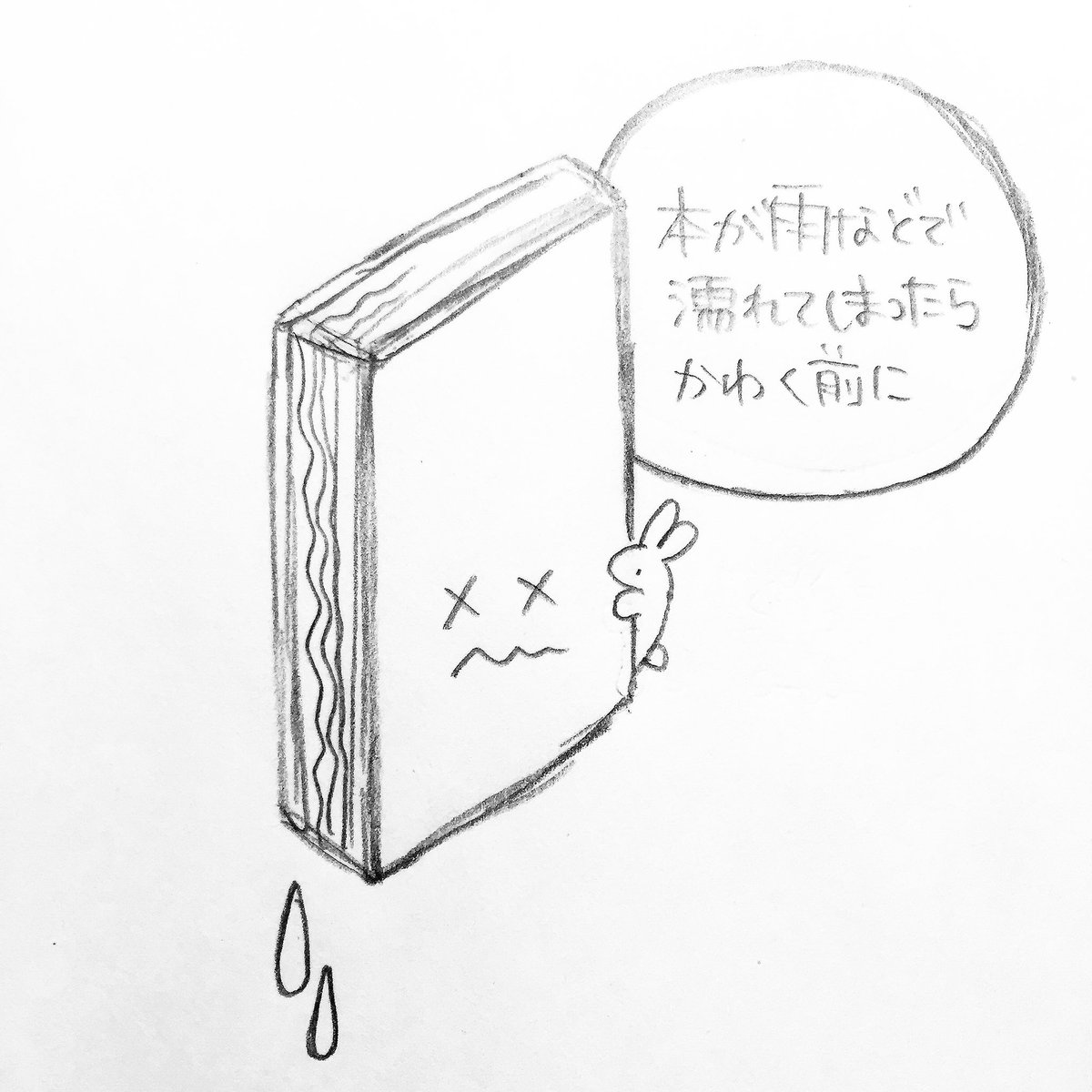 なかなか知られていないようなので。本が濡れてしまったら。