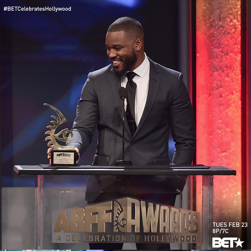 'CREED' writer & director, Ryan Coogler, received the #ABFF Rising Star Award! All of Philly applauds you, Ryan! https://t.co/tmW6bSlmXn