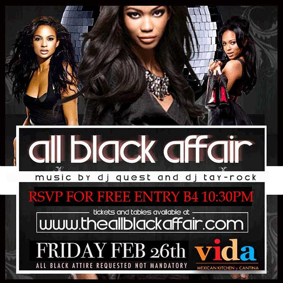 party fixx company on twitter the all black affair with dj tay