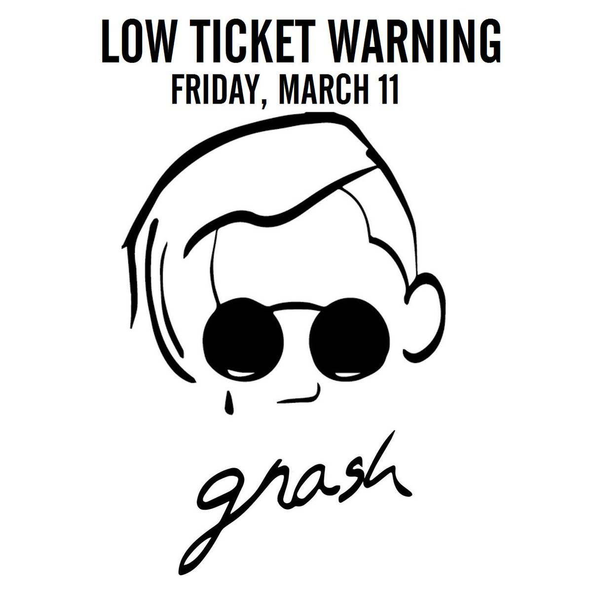 Low Ticket Warning for @gnash on Friday, March 11 -- Don't miss out on this amazing night!
