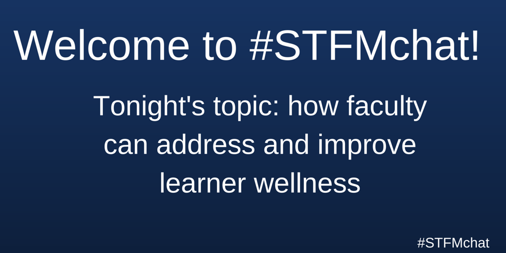 Welcome to #stfmchat! Introduce yourselves and use the #stfmchat hashtag. https://t.co/cNtkb51Lvd