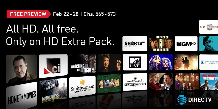 Directv may news letter free preview of hd extra pack for Fishing channel on directv