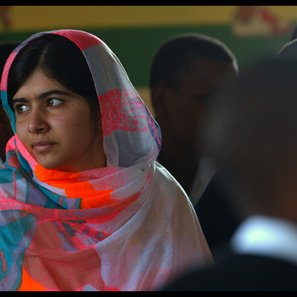 $1 will be sent to the @MalalaFund for every tweet and retweet using #withMalala today!
