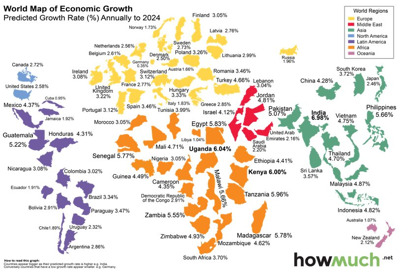 Amit ranjan on twitter infographics world map showing country amit ranjan on twitter infographics world map showing country wise projected annual gdp growth rates till 2024 gumiabroncs Images