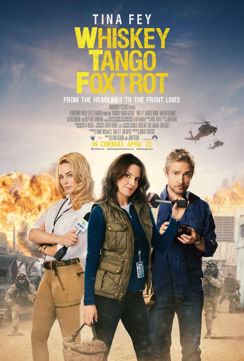 #WTF?! See #TinaFey, #MartinFreeman & @MargotRobbie join forces in #WhiskeyTangoFoxtrot out April 22.
