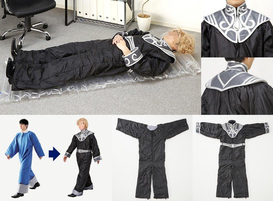 てことで、キングジムさんから着る布団・ゴールデンバウム朝銀河帝国軍上級大将モデルを頂きました。こちらは3/11~3/20間にニッセン銀英伝グッズを購入頂いた方の中から抽選9名様にプレゼントします。(非売品です)#銀英伝ニッセンコラボ
