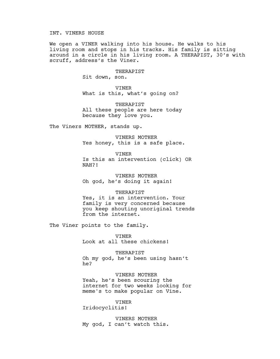 Brandon Calvillo On Twitter Screenplay I Wrote For My New Film A