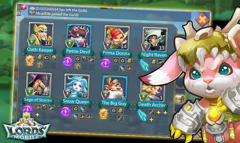 best heroes lords mobile