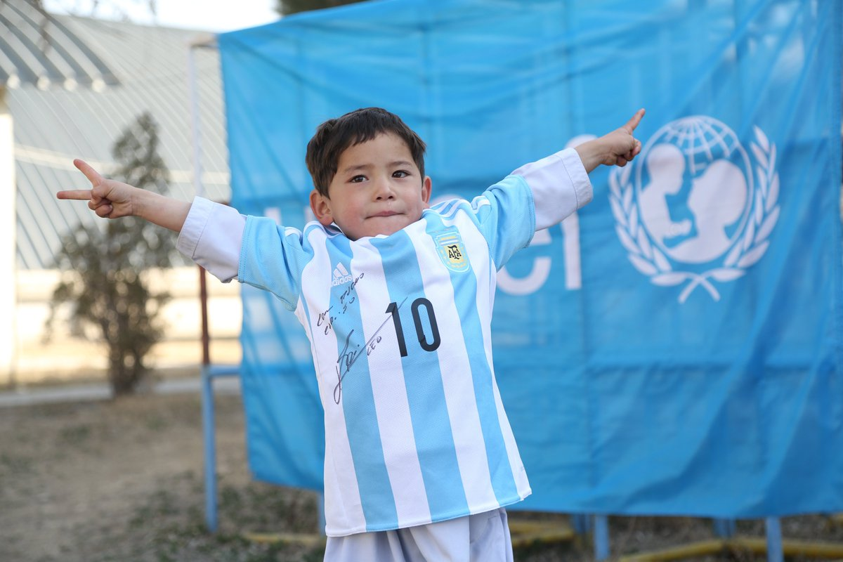 Signed Lionel Messi shirt makes Afghan child's dreams come true