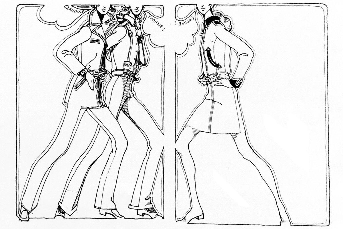'60s バーバラ・バックウォルド(ドイツ)のファッション・イラスト