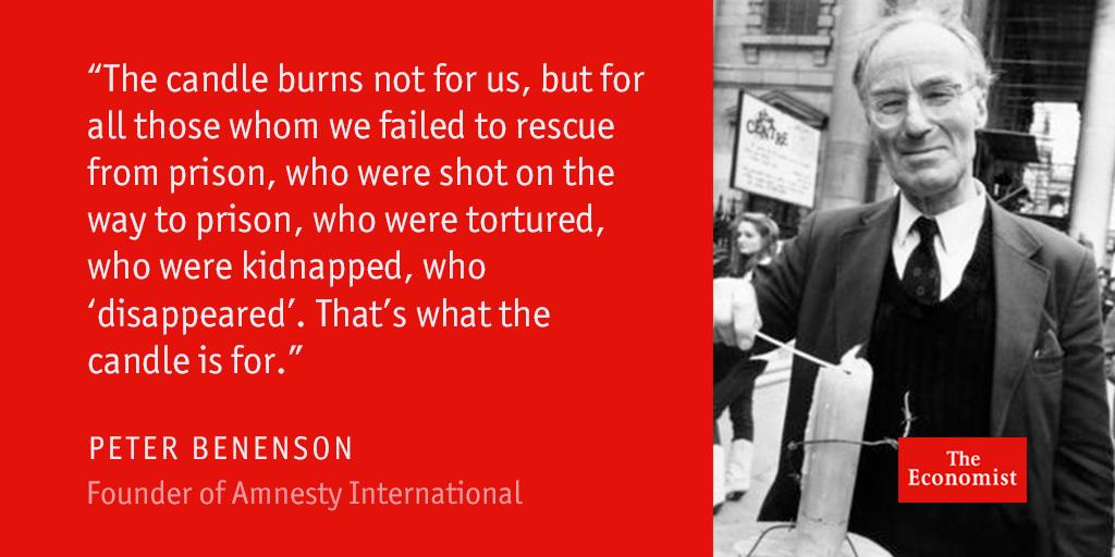 the economist on twitter peter benenson founder of amnesty