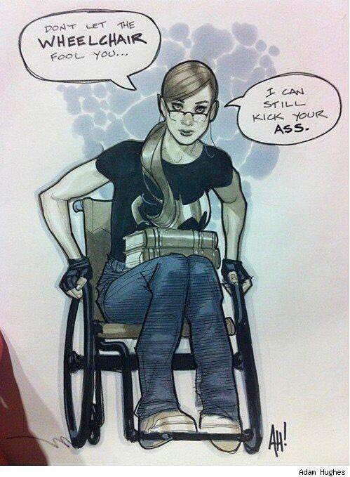 Risultati immagini per dont let the wheelchair fool you
