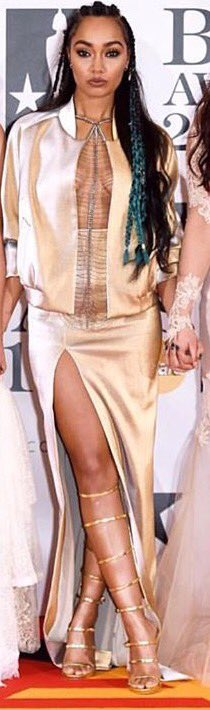 My absolute obsession of the night! Leigh-Anne's red carpet outfit!