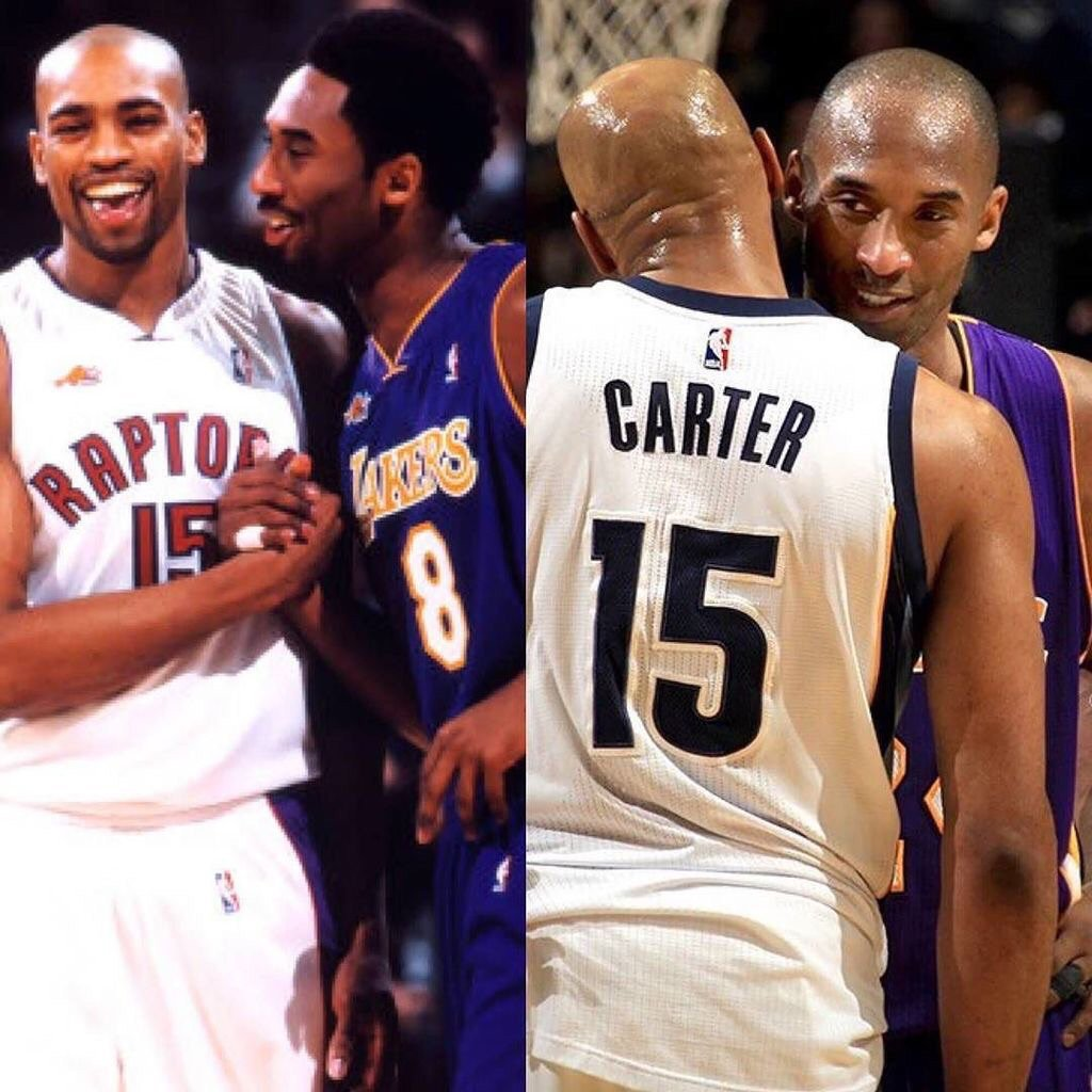 Then & now.... @kobebryant it's always been a pleasure to battle you. 18 great years to be exact. #SALUTE!!!!! https://t.co/XLlrgeu9x0
