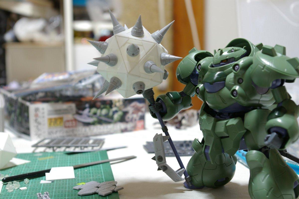 ガンダムグシオン用オリジナル武器、塗装以外できました!  その名もグシオンスパイク! https://t.co/IpkVQN644Q