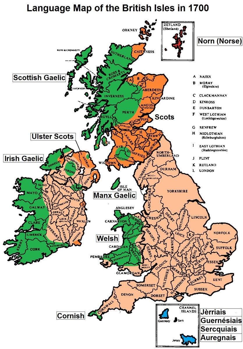 Frank Selby On Twitter Language Map UK In British Isles - Irish language map