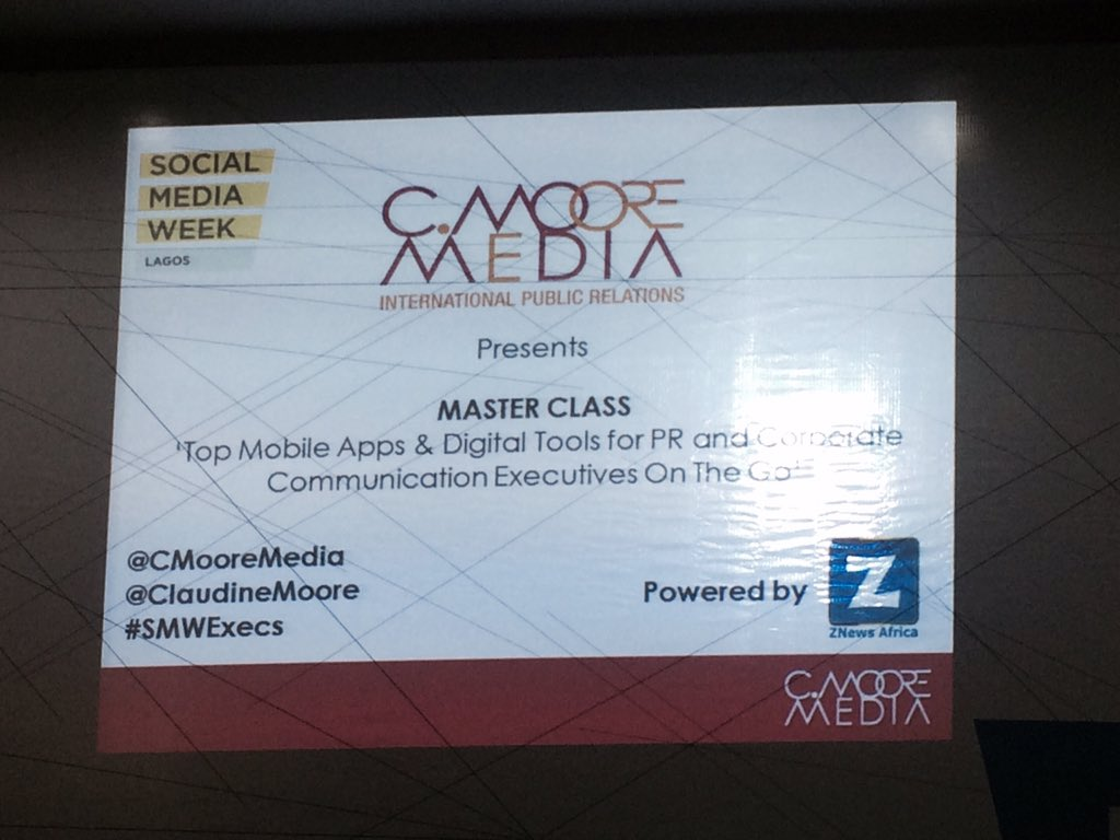 Thumbnail for SMWLagos 2016 Masterclass: Apps and Tools Public Relations and Corporate Communications