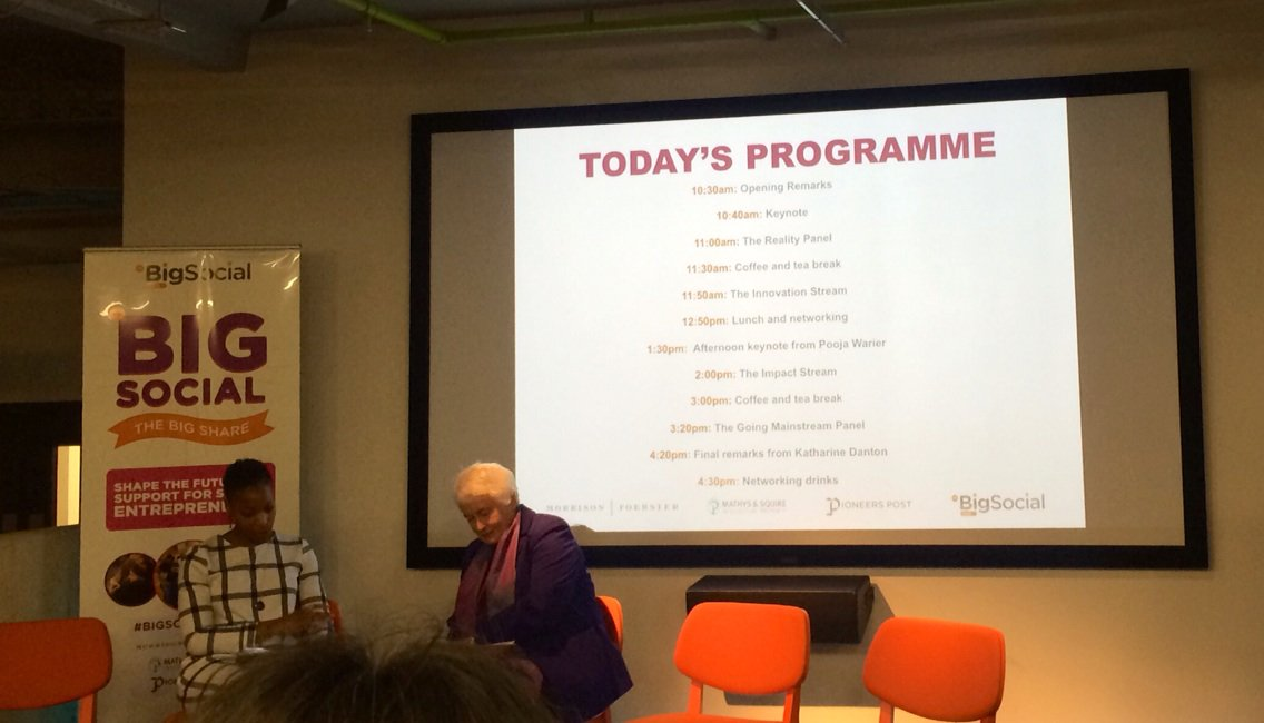 'A failed business doesn't help anyone.' Wise words from Margaret Mountford #BigSocial2016 https://t.co/qTobiXzJyO