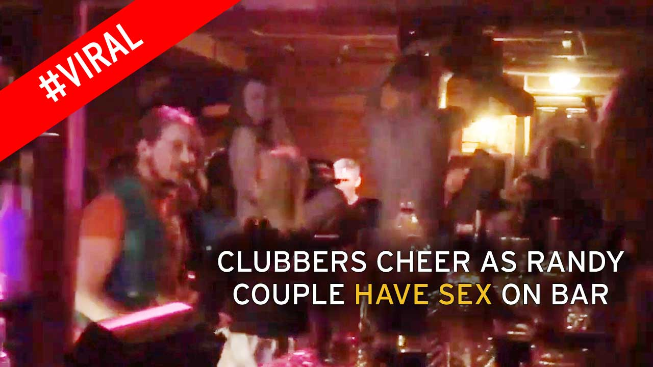 Very Sex in a club naked