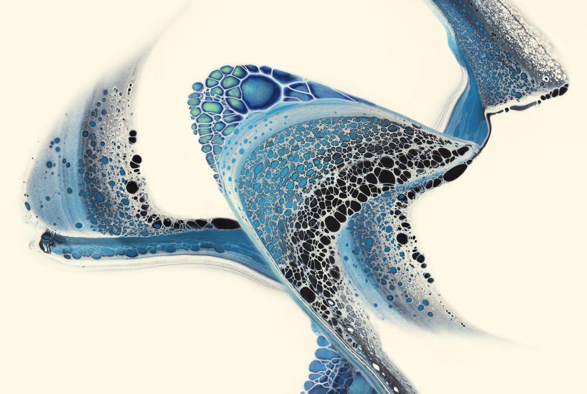 Predator - Fluid acrylics and ink