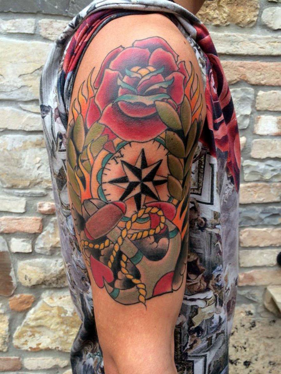 Daniele Del Conte On Twitter Half Sleeve Tattoo Tattoofixers