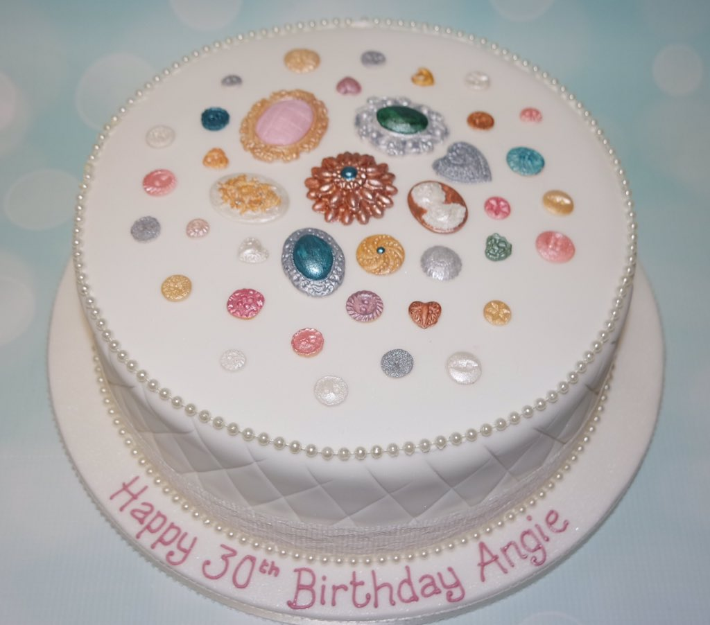 Crafty Cakes On Twitter A Simple Yet Elegant 30th Birthday Cake