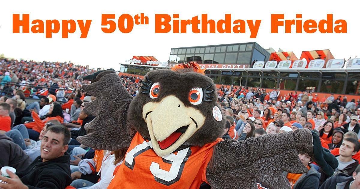 Happy 50th birthday Frieda! We ❤️ you @BGSUBirds