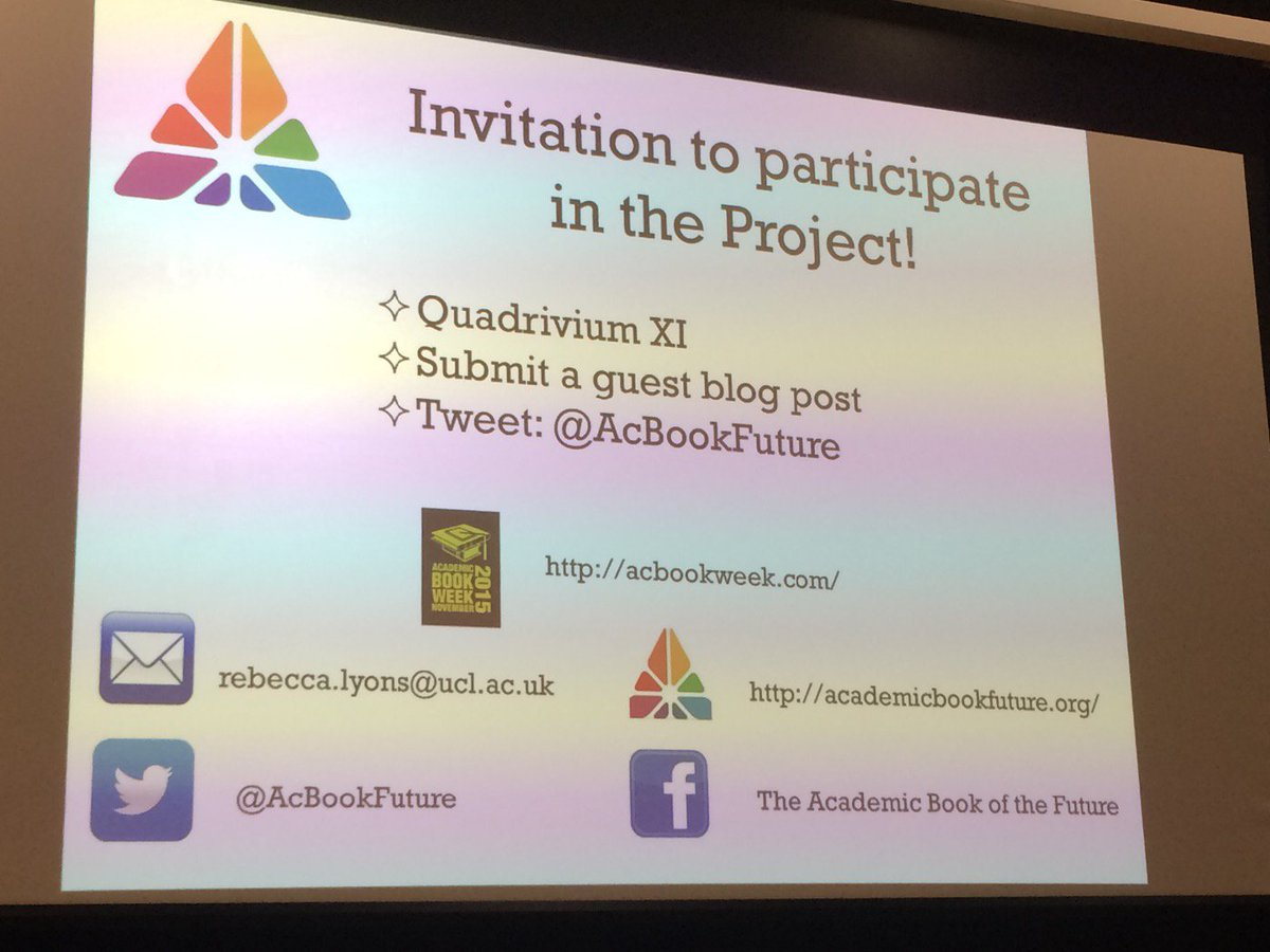 Opportunities to get involved with @AcBookFuture #QuadXI https://t.co/NCV0NSz0gm