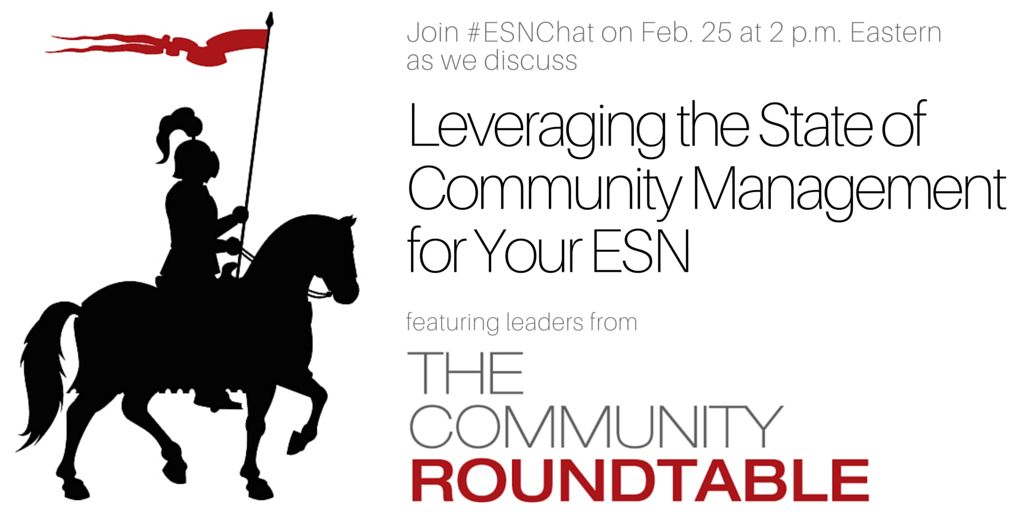 30 minutes til #ESNChat! Today's subject: Leveraging the State of Comm. Mgmt Research for Your #ESN https://t.co/ptk4wzmWHx