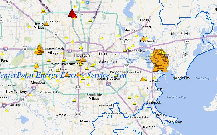 Baytown Centerpoint : power outage reported Baytown ... on bloomington map, center point energy system map, oncor map,