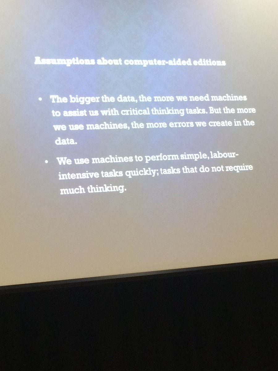 Mike Pidd from @hridigital dismissing some myths about computer-aided #dh research #QuadXI https://t.co/8h65Sk8wR8