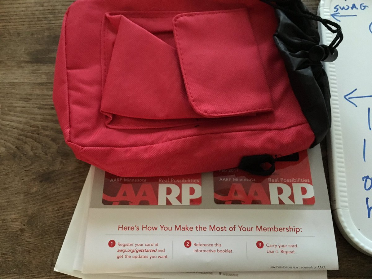 Tom Lyden On Twitter Husband And I Just Got Our Aarp Cards M Kind Of Loving It Free Gift Bag Https T Co Kfxjiqzjs3