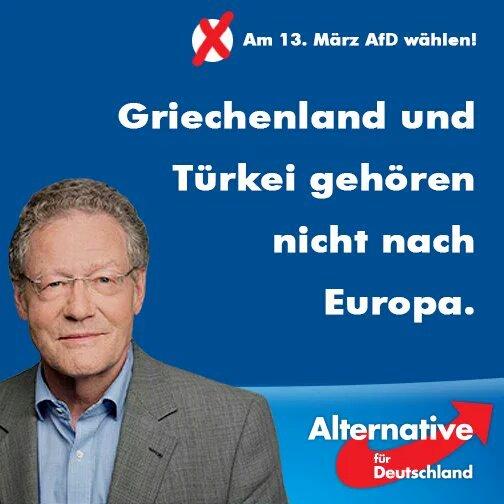 Αφίσα υποψήφιου από το γερμανικό AfD,