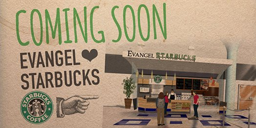 Coming soon! @Starbucks at #EvangelUniversity. Look for it Fall 2016. #DrinkAllTheCoffee #Sbux https://t.co/IwacvY4rJE