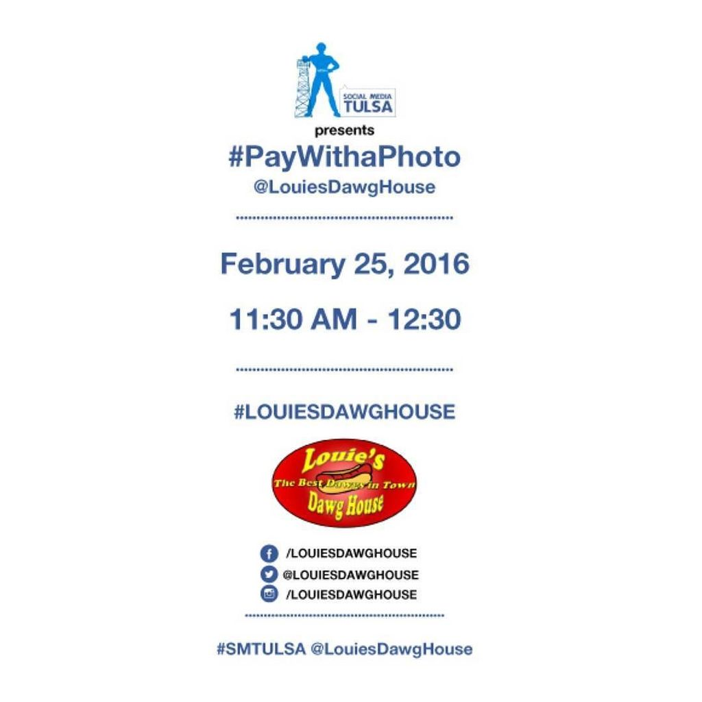 We had a blast getting our #FoodTruck on at the first #PayWithaPhoto #SMTULSA meetup. Thanks for hosting us @louies… https://t.co/FptwxWg3Mg