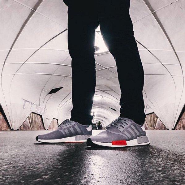 Adidas Nmd Black Mesh On Feet