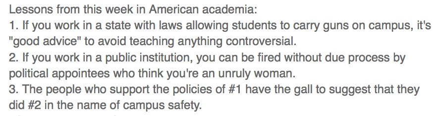 My lessons learned from American academia this week.  #StandWithMelissaClick https://t.co/IFuYgIgc0a