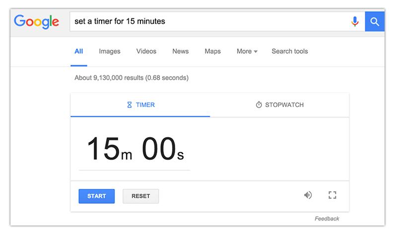 online timer for 15 minutes