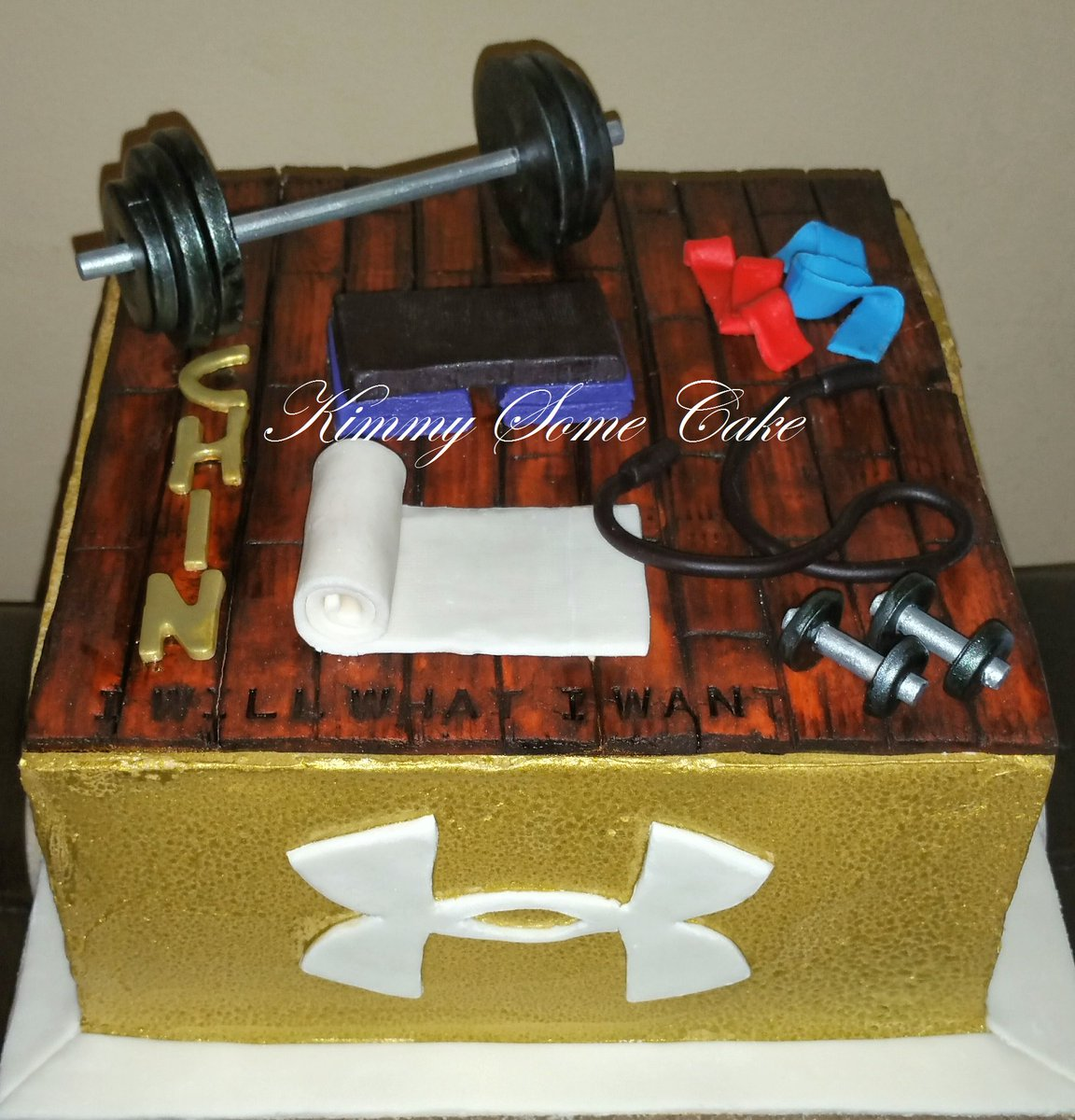Kimberly Roy On Twitter Under Armourworkout Themed Birthday Cake