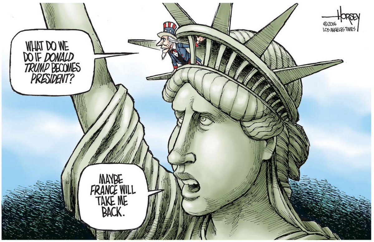 "The preposterous now seems possible. Say it with me: ""President Trump""… https://t.co/eQ511uNhEV #EditorialCartoon by @DavidHorsey"