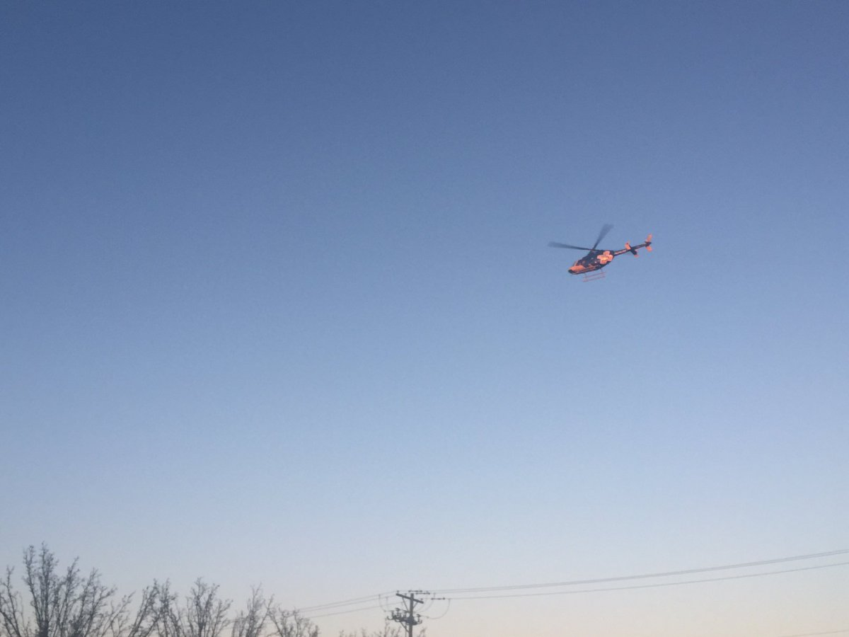 Medical helicopter just landed @ Via Christi St. Francis. Via Christi getting 3 patients & Wesley getting 3 #kwch12 https://t.co/yEFu7fRWb0